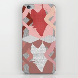 My Thighs Rub Together & I'm OK With That - Positive Body Image Digital Illustration iPhone Skin