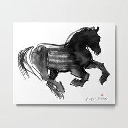 Horse (Devil cantering) Metal Print