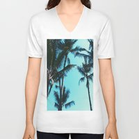 palm trees V-neck T-shirts featuring Palm Trees by Alexandra Str