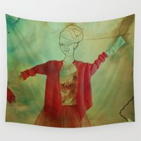 dancer Wall Tapestries featuring Street Dancer by Victoria Herrera