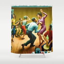 Classical Masterpiece 'The Twist' by Thomas Hart Benton Shower Curtain