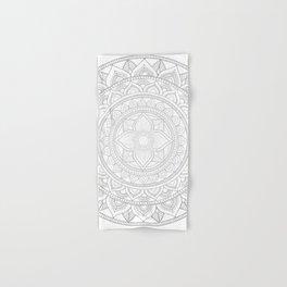 Bali Mandala - Neutral Grey Hand & Bath Towel