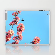 Pink flowers With Bee Laptop & iPad Skin