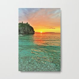 Sunset at the Grotto Metal Print