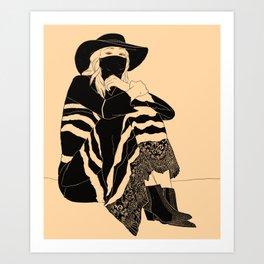 Black Lace // 01 Art Print