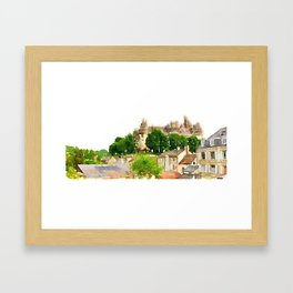 Pierrefonds Watercolor Framed Art Print