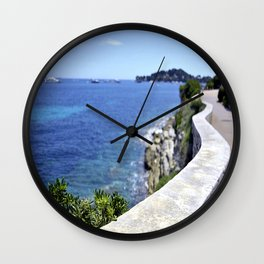 Seaside on Saint Jean Cap Ferrat Wall Clock