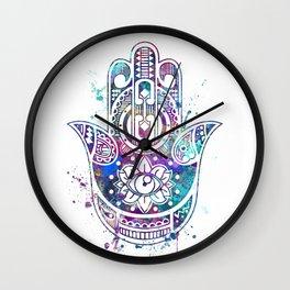 Hamsa Hand Watercolor Poster Wedding Gift Wall Clock