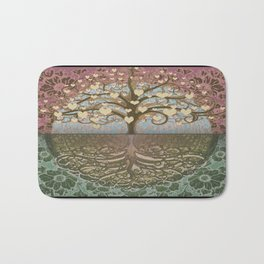 Tree of Life Heart 2 Bath Mat