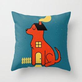 DogHouse Throw Pillow