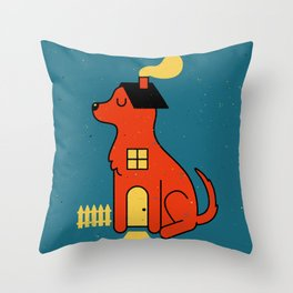 DogHouse Throw Pillow