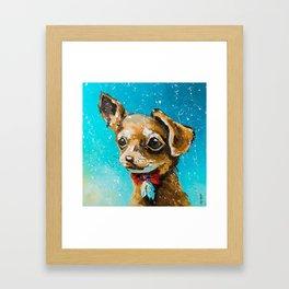 Glamorous dog Framed Art Print