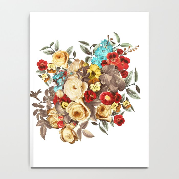 Watercolors Floral Pattern Notebook