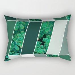 Green Herringbone #society6 #green #succulent Rectangular Pillow