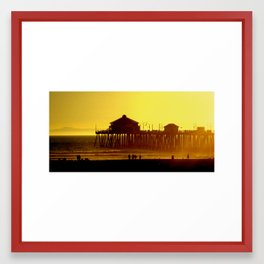 Sunset at the Beach Framed Art Print