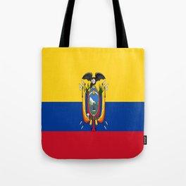 Flag of Ecuador -ecuadorian,Inca,Kichwa,Quito,america, South america,Spanish,Amazonia,latin america Tote Bag