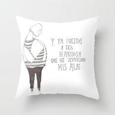 Hombre Mariposa Throw Pillow