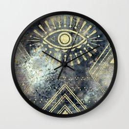 Evil Eye Gold Wall Clock