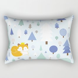 The fox in the winter forest Rectangular Pillow