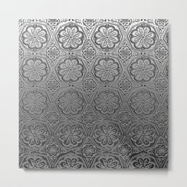 Chromatic Floral Metal Print