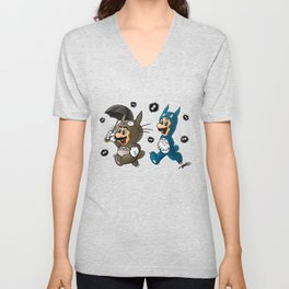 Super Totoro Bros. Alternative Unisex V-Neck