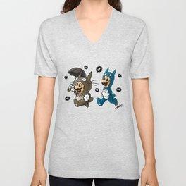 Super Totoro Bros. Alternative Unisex V-Neck