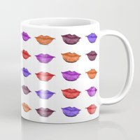 lipstick Mugs featuring Lipstick by Young Clerks
