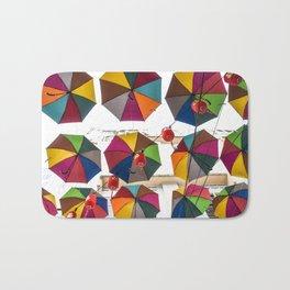 Colorful hanging umbrella Bath Mat