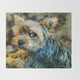 Yorkshire Terrier Throw Blanket