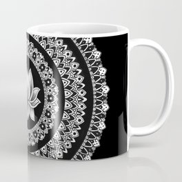 Black and White Lotus Mandala Coffee Mug