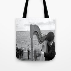 His Music Floats Down to Paris Tote Bag