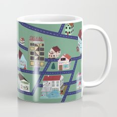 Little Town Pattern Mug