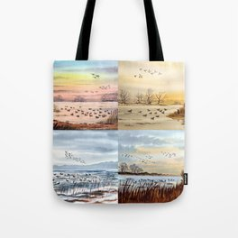 Duck Hunting Collage Tote Bag