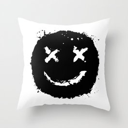 Confused Smile Throw Pillow