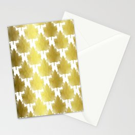 Golden Maple Leaves Stationery Cards