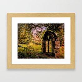 Manor house landscape. Framed Art Print