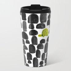 Turtle in Stone Garden Metal Travel Mug