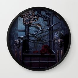 Upon My Liar's Chair Wall Clock