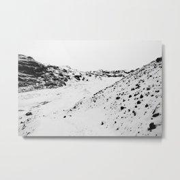 Black White World Metal Print