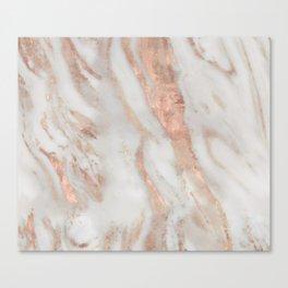 Civezza rose gold marble quartz Canvas Print