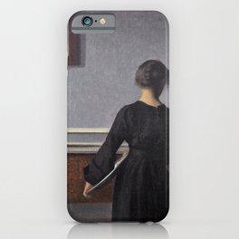 Interieur Mit Rueckenansicht Einer Frau - Digital Remastered Edition iPhone Case