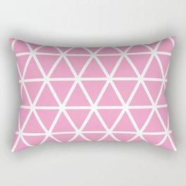 Light Pink Triangle Pattern 3 Rectangular Pillow