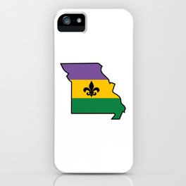 Mardi Gras Mo iPhone Case