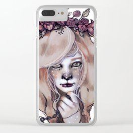 Cowardly Lion Clear iPhone Case