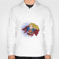 supergirl Hoodies featuring Supergirl by Waterflybooks