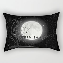 Moon Bath, Birds On A Wire Rectangular Pillow