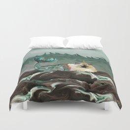 Behold the Mythical Merkitticorn - Mermaid Kitty Cat Unicorn Duvet Cover