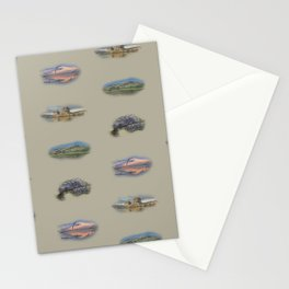 Highland landmarks in beige Stationery Cards