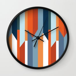 Colorful arrows and stripes Wall Clock