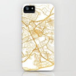NAIROBI KENYA CITY STREET MAP ART iPhone Case